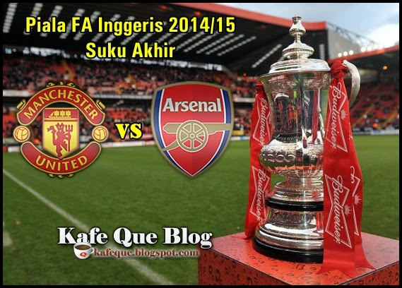 POSTER MAN UNITED VS ARSENAL PIALA FA CUP 2015