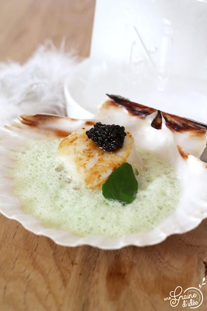 St Jacques Saint Jacques Caviar Cresson
