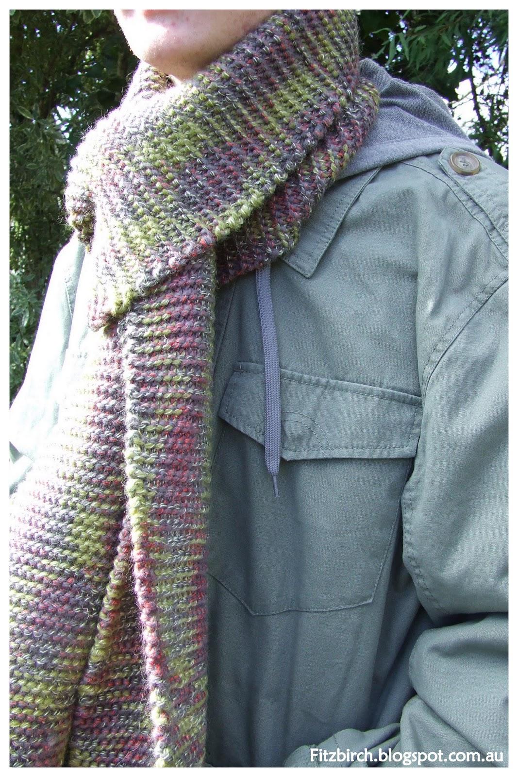 Knitting Garter Stitch Scarf : Fitzbirch crafts garter stitch scarf