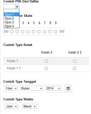 Contoh Type Data Google Doc