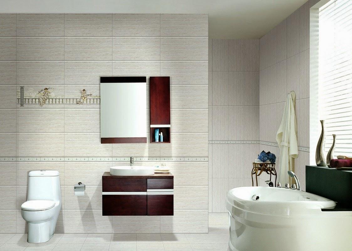 Harga dan contoh gambar desain keramik kamar mandi roman for Bathroom designs hd images