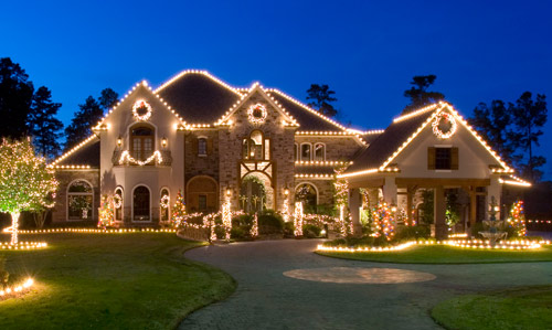 my favorite christmas lighting has always been the clear lighting it appears so sleek and classy in my opinion take a look at some lighting ideas for - Exterior Christmas Lights Ideas