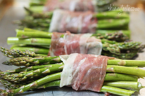 Roasted Prosciutto Wrapped Asparagus Bundles | Skinnytaste