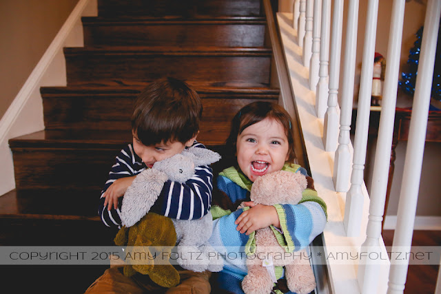 in-home family photo session with toddlers