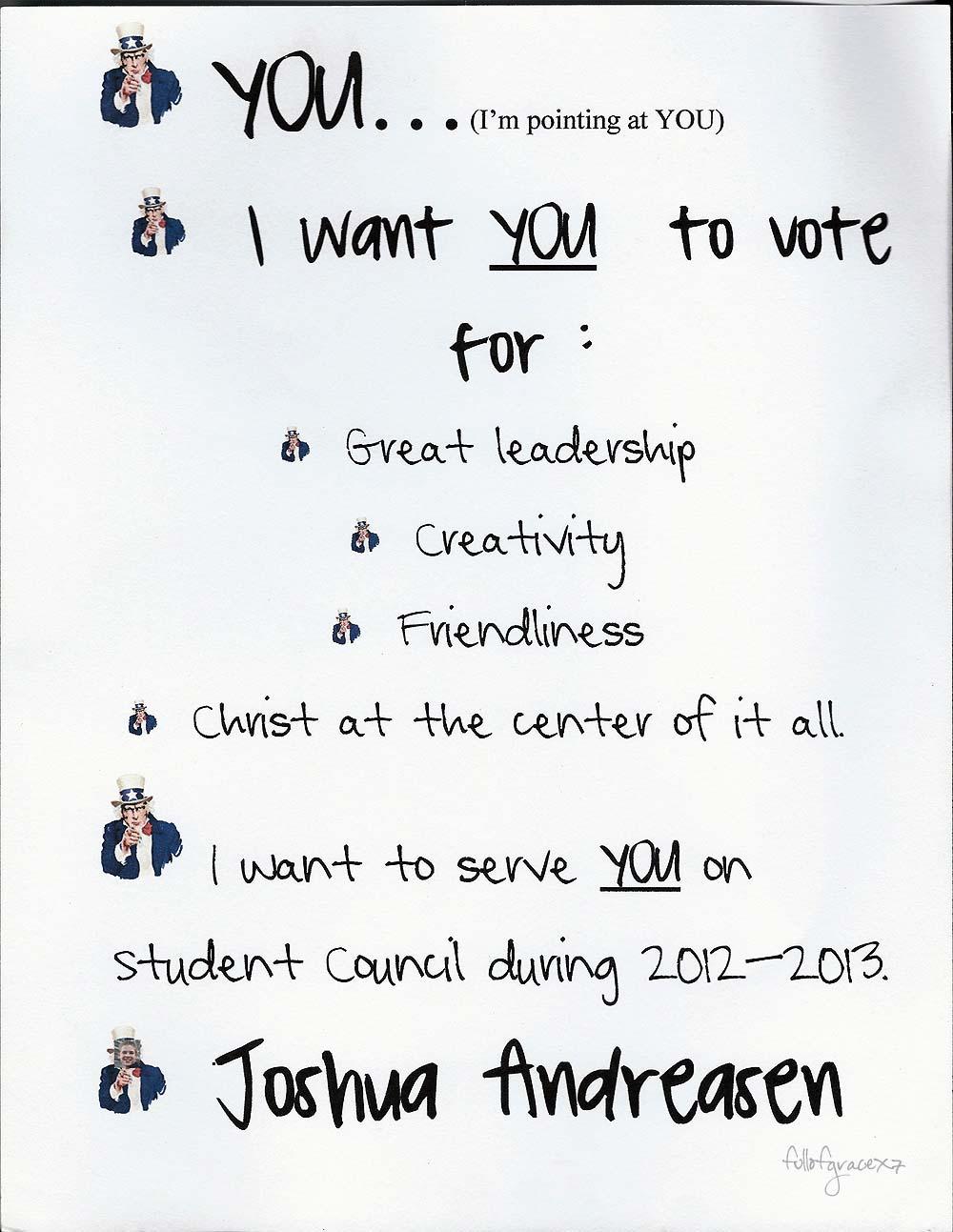 4th grade student council speech ideas
