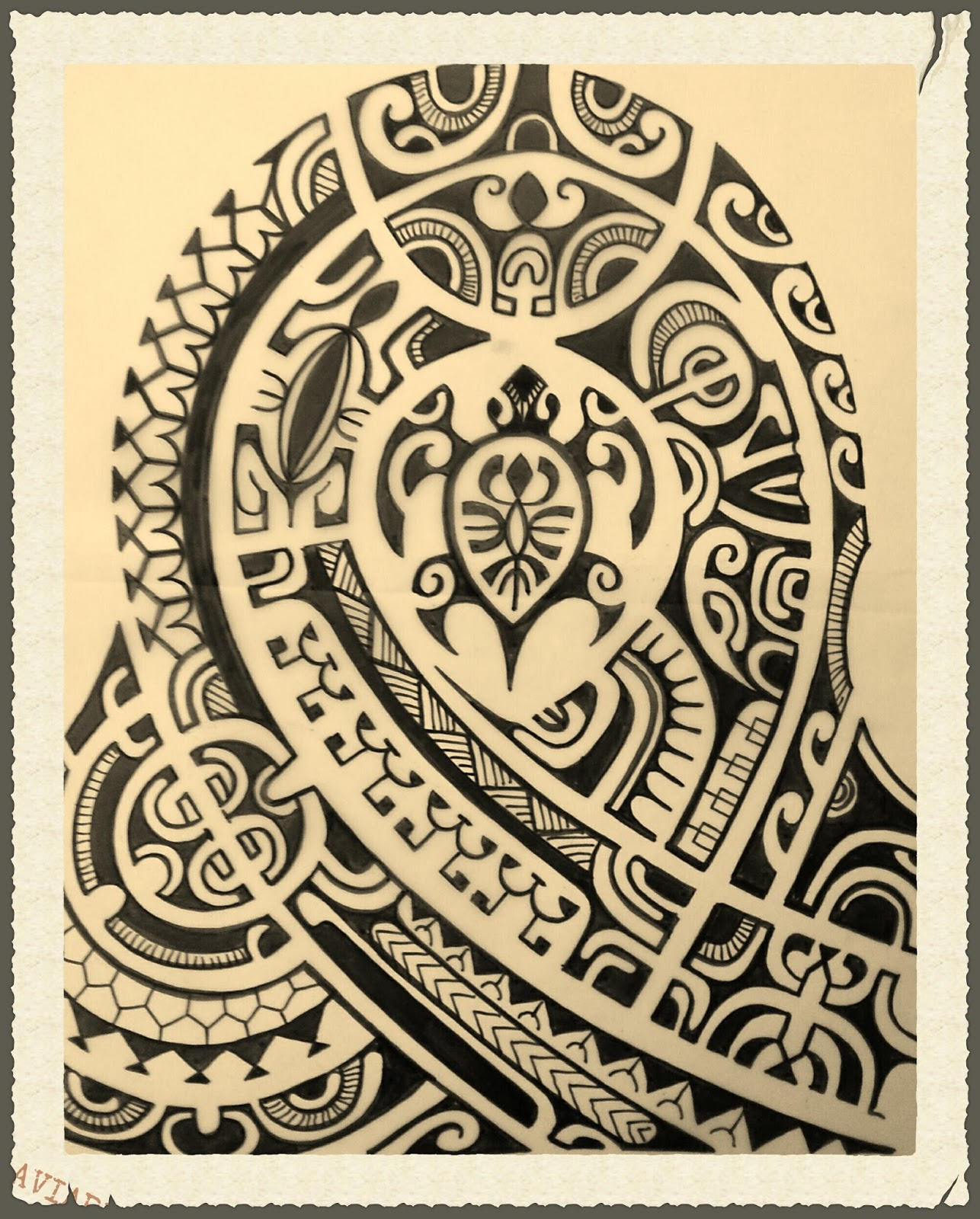 Modèles tatouage Polynésiens et Maoris Tattoo Tatouage - Dessin De Tatouage Polynesien