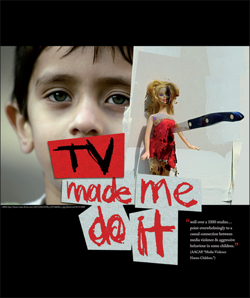 the influence of media violence on children Media can promote aggressive behavior and can also influence children to believe violence is a good solution to solve problems create a false sense of reality young children can't always discriminate between real life situations and behaviors and surreal television examples.