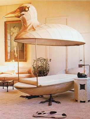 Canopy bed sculpture by François Lalanne