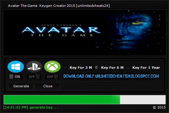 avatar keygen generator
