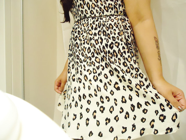 outfit, night, leopard print, animal print, oasis dress