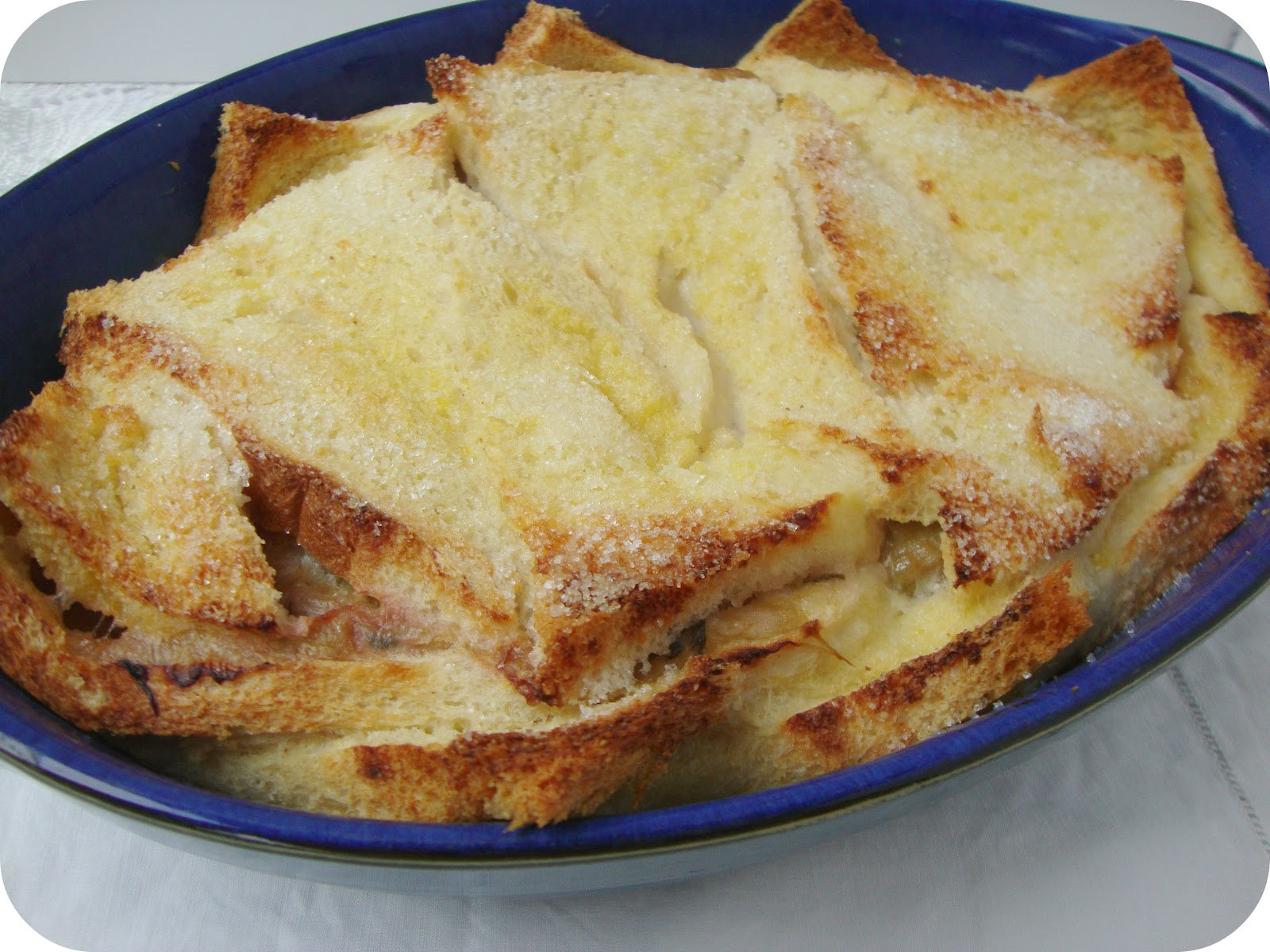 Miss Beatrix: Rhubarb Bread and Butter Pudding