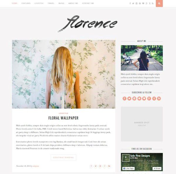 Florance great visual theme