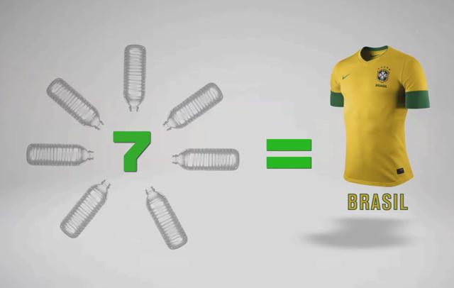 Nike mostra como são feitas as camisas de garrafas PET