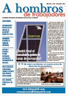 Número de noviembre del periódico A Hombros, del centro de Madrid