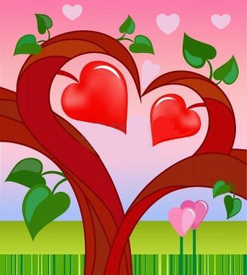 corazones animados de amor. Dibujos para imprimir