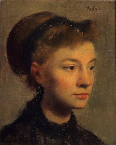Head of a Young Woman (1867) By Edgar Degas