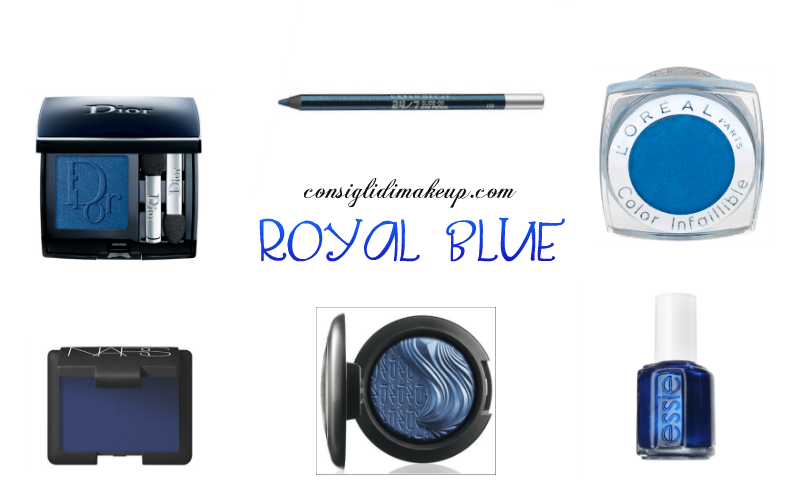 trucco pantone royal blue