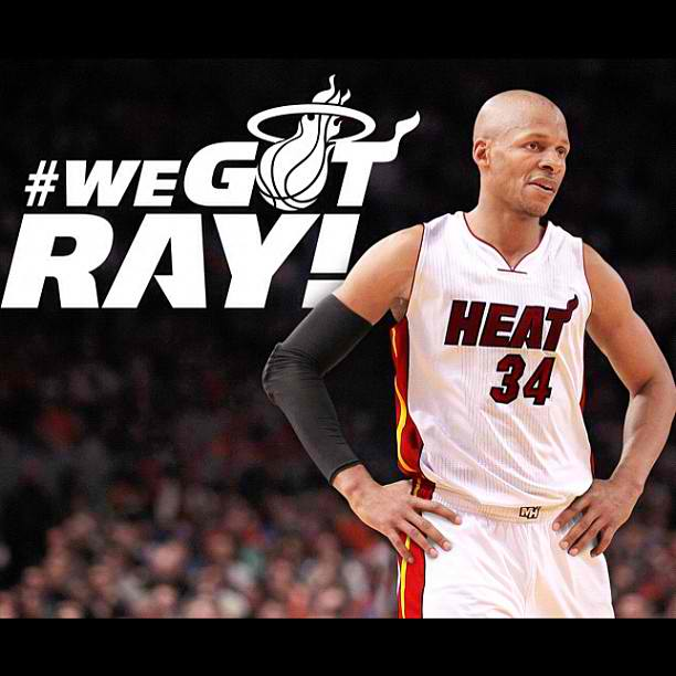 JanBasketball Blog: Ray Allen going to play in Miami Heat ... Ray Allen Heat