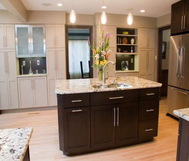 Simplifying remodeling mix and match your kitchen cabinet styles Kitchen design mixed cabinets