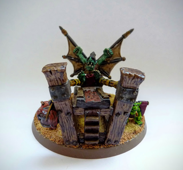 Painting update on Goblin Doom Diver for Orcs & Goblins, Warhammer Fantasy Battle.