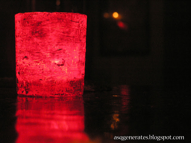 DIY Candle Jar : Jar On FIRE dark environment with candle lit up insdie