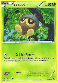 Seedot Flashfire Pokemon Card