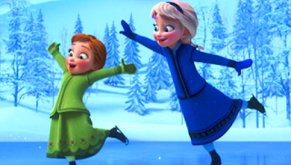 Gambar Kartun Anna dan Elsa Frozen Kecil Terbaru