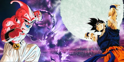 Goku genkidama, kekuatan buu, kid buu, menembus batas kekuatan goku