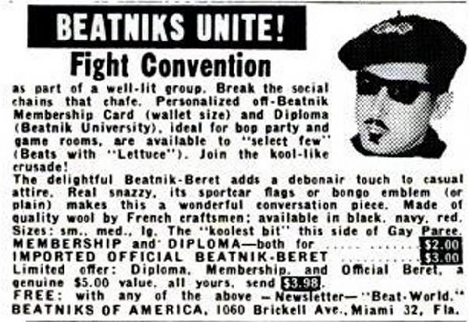 On beat sociology beatniks and beat exploitation beat kitsch see here