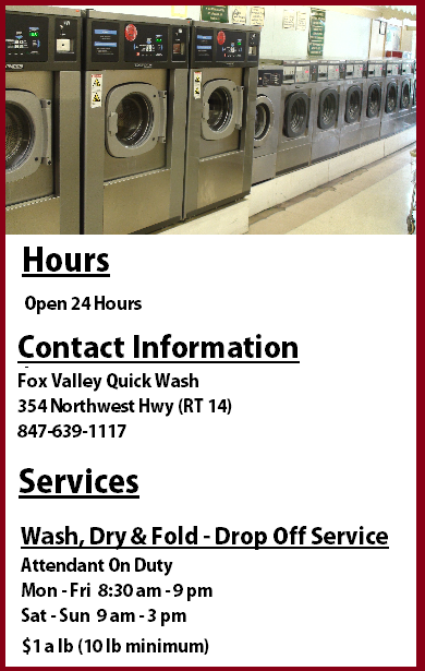 Fox Valley Quick Wash Info
