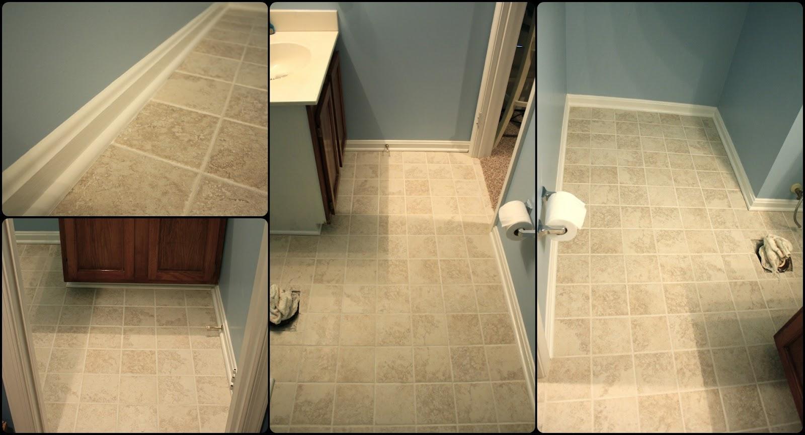 Bathroom Floor Tile Baseboard : Simply diy september