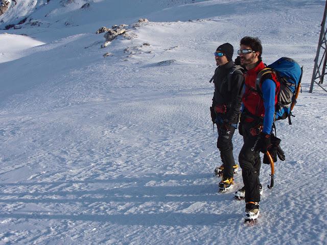 Luca e Giulio nei pressi della sella di Leonessa, Terminillo
