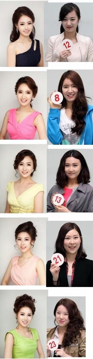 Modelos coreanas con y sin maquillaje
