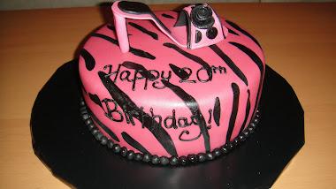 Bday Zebra/Shoe Cake