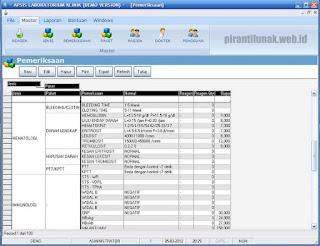 group pemeriksaan sofware aplikasi laboratorium