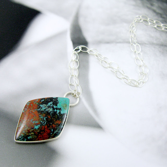 Sonora Sunrise Jasper Necklace in Sterling Silver