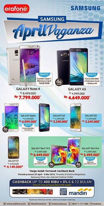 Samsung April Vaganza Promo Hingga 5 Mei 2015