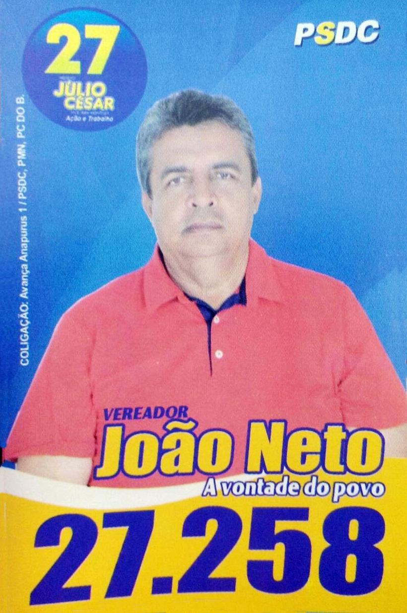 Para vereador, João Neto