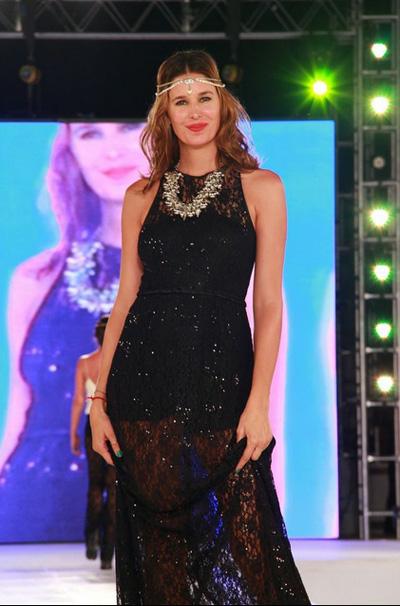 Pinamar Moda Look 2014. Almendra Peralta Ramos vestidos de fiesta y Matuca accesorios verano 2014.