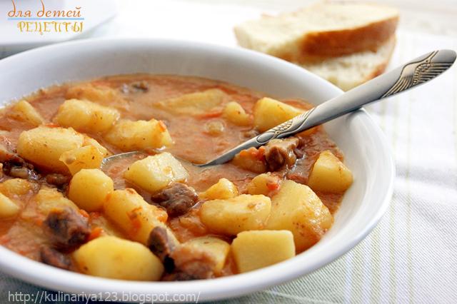 тушить картошку с мясом в мультиварке