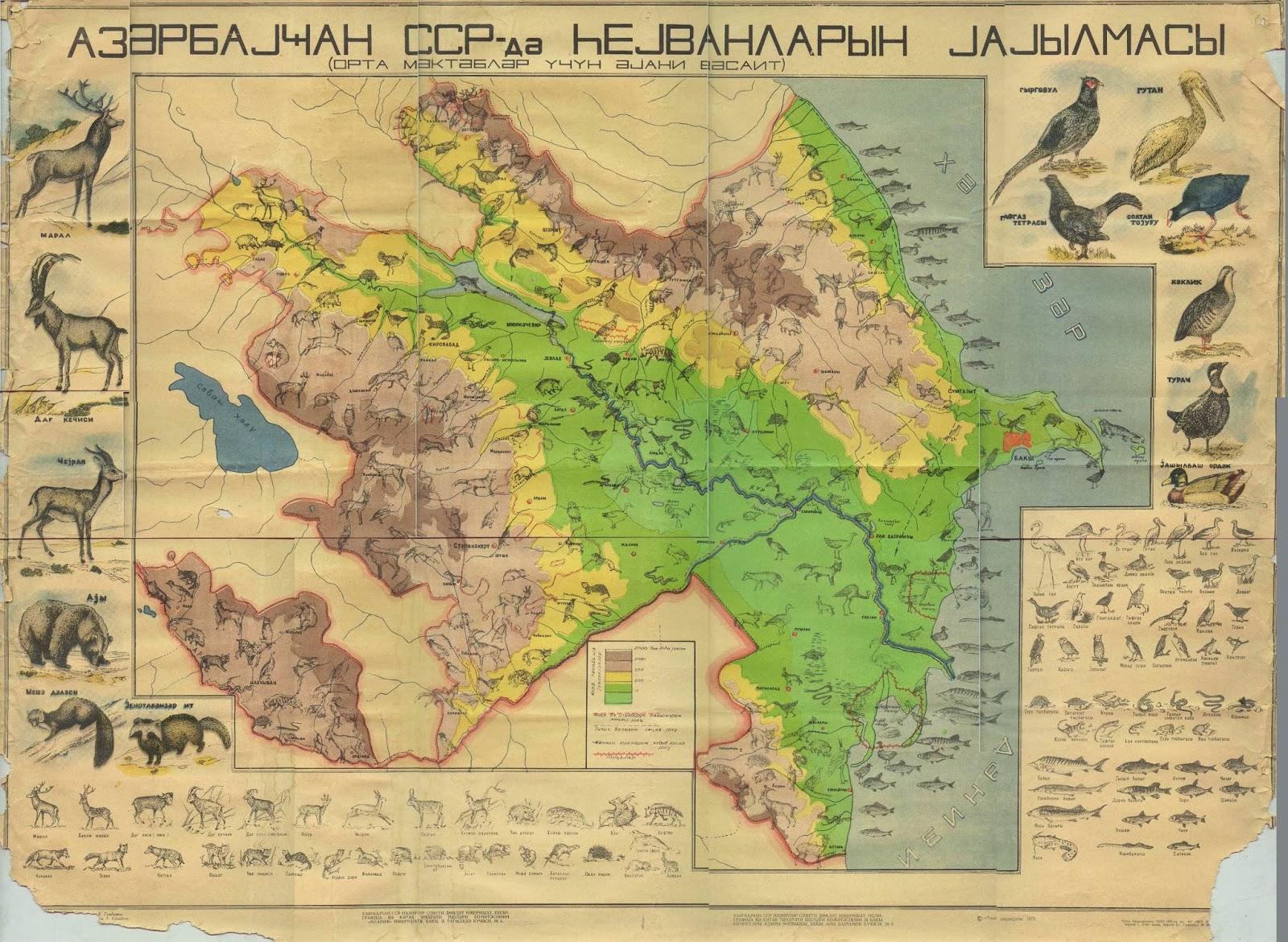 Coqrafiya Bloqu E Xerite Azərbaycan Atlas