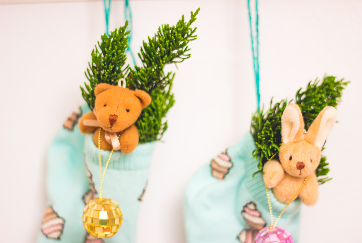 cute christmas pastel minimal kitsch decor inspiration