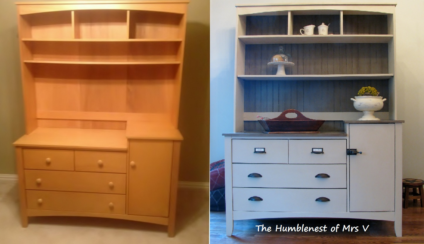 Charming Changing Table To Kitchen Hutch