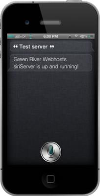 GreenRiver SiriServer Siri