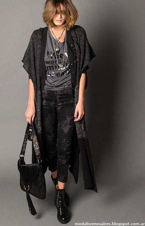 Moda invierno 2015 ropa de mujer Marcela Pagella.