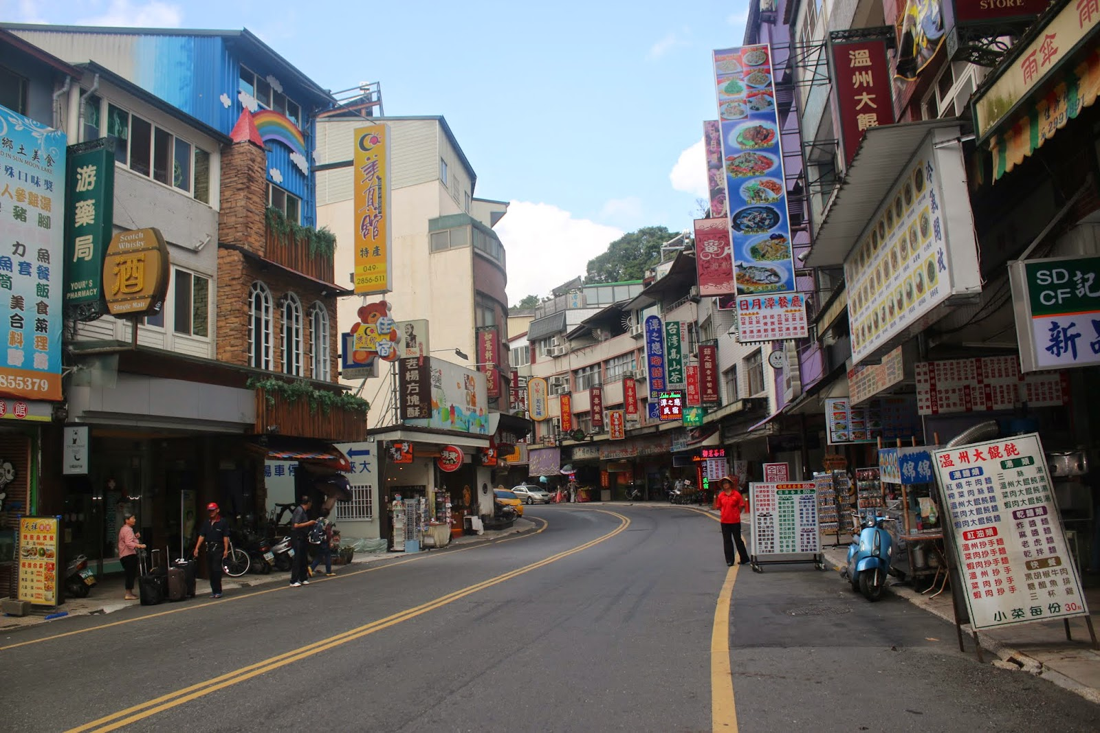 You can find eateries and hotels nearby Shueishe Pier at the popular national scenic of Sun Moon Lake in Taiwan