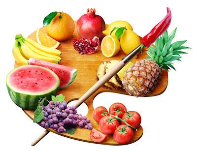 Paleta de las frutas - Fruit palette - Comer saludable