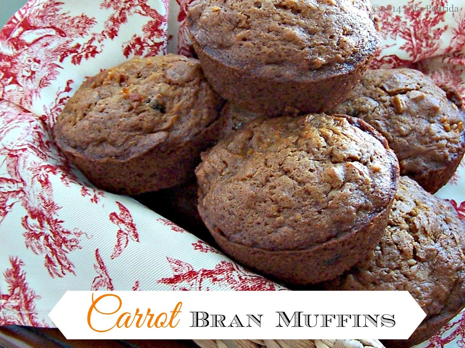 carrot bran muffins