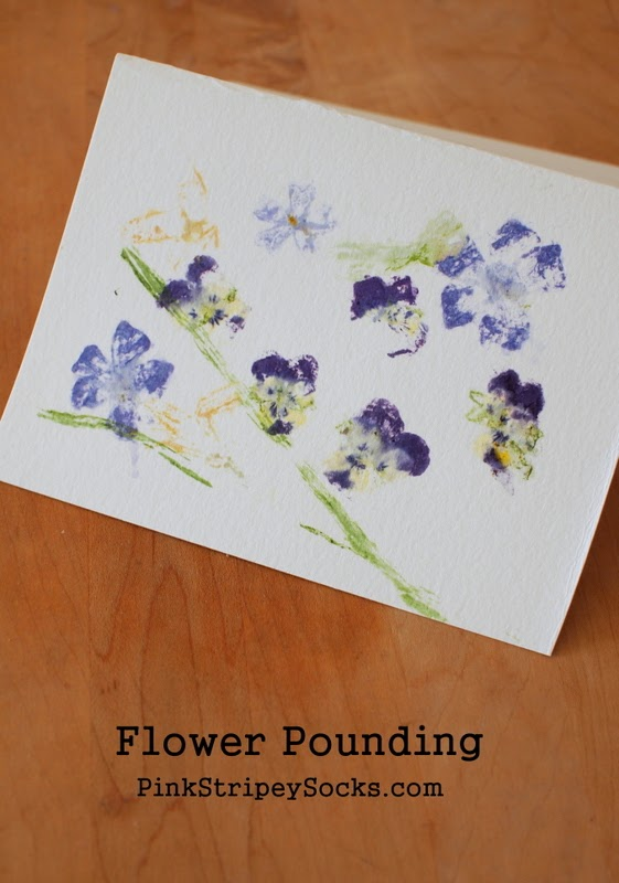 how to do flower pounding with kids
