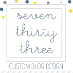 seven thirty three - - - custom blog design